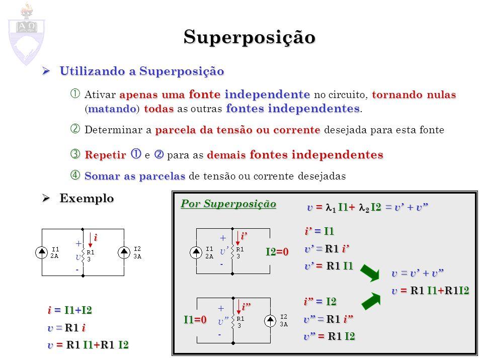 Superposição Utilizando a Superposição Exemplo
