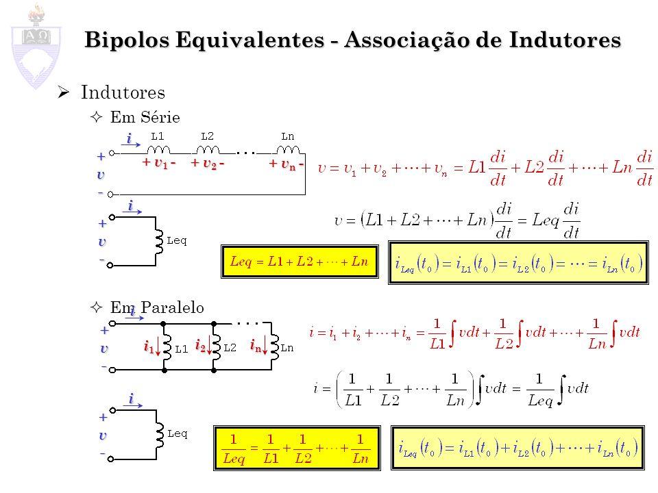 Bipolos Equivalentes - Associação de Indutores