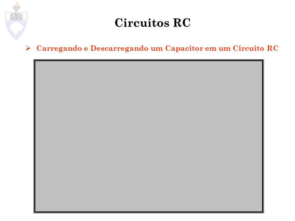 Circuitos RC Carregando e Descarregando um Capacitor em um Circuito RC
