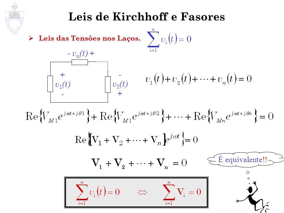 Leis de Kirchhoff e Fasores