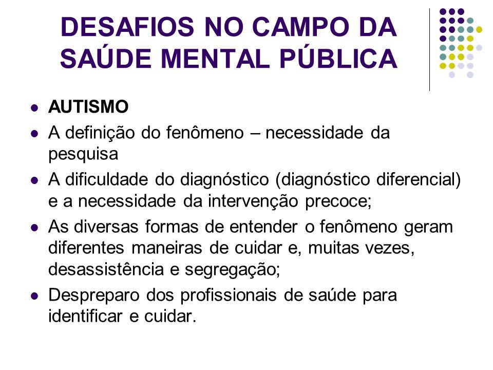 DESAFIOS NO CAMPO DA SAÚDE MENTAL PÚBLICA