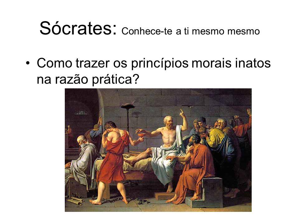 Sócrates: Conhece-te a ti mesmo mesmo