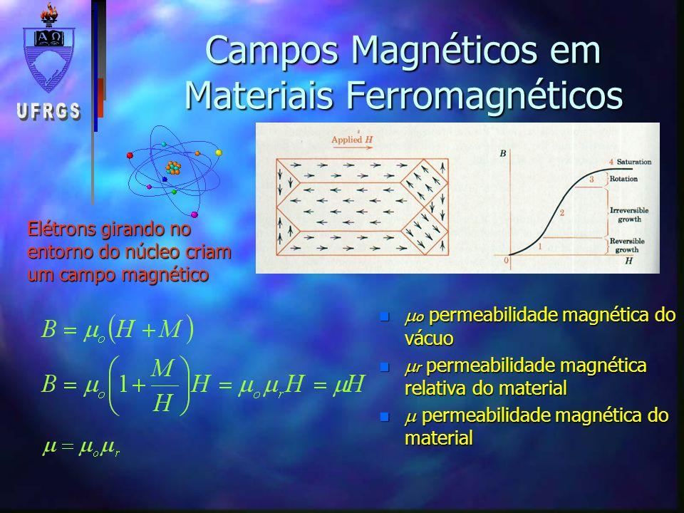 Campos Magnéticos em Materiais Ferromagnéticos
