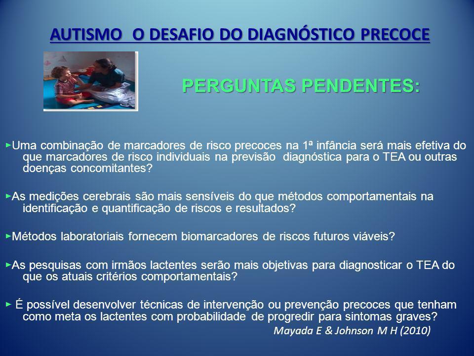 AUTISMO O DESAFIO DO DIAGNÓSTICO PRECOCE