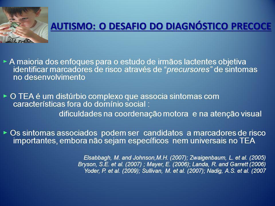 AUTISMO: O DESAFIO DO DIAGNÓSTICO PRECOCE