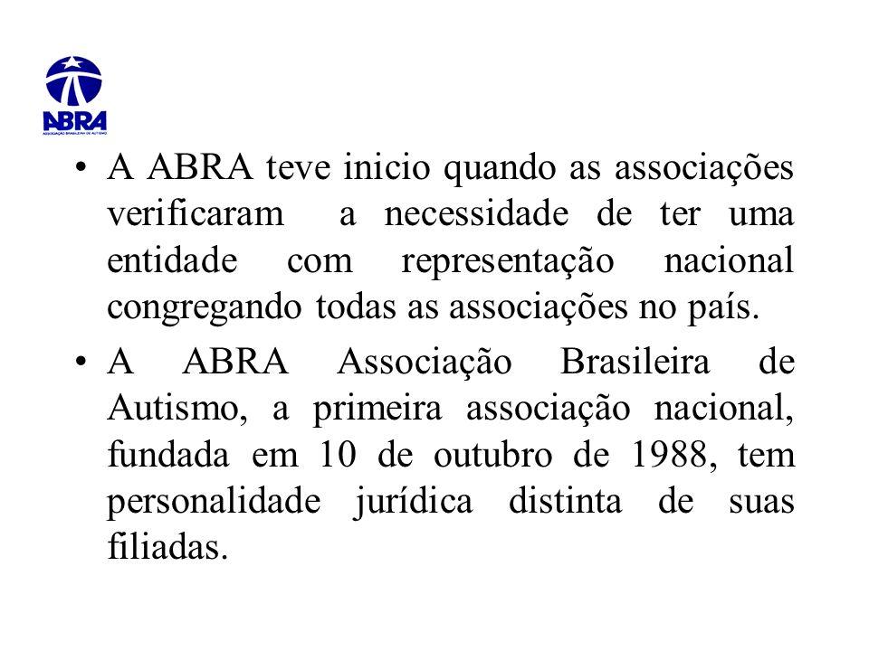 A ABRA teve inicio quando as associações verificaram a necessidade de ter uma entidade com representação nacional congregando todas as associações no país.