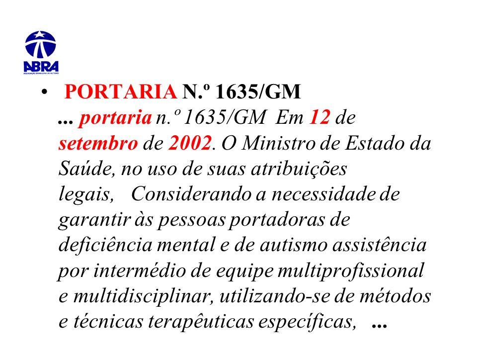 PORTARIA N. º 1635/GM. portaria n. º 1635/GM Em 12 de setembro de 2002