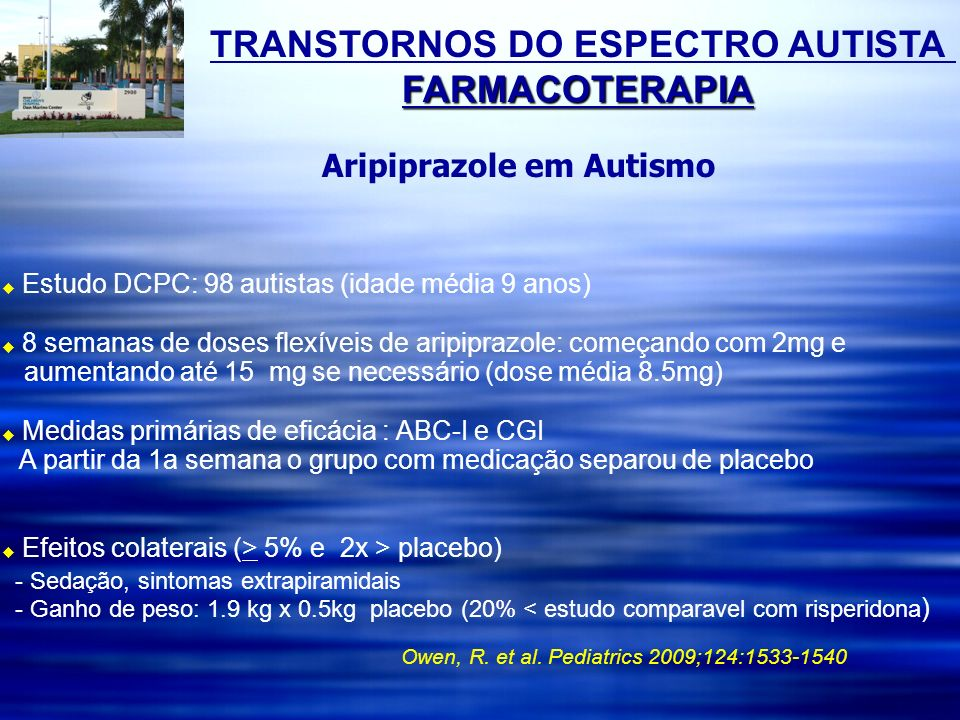 TRANSTORNOS DO ESPECTRO AUTISTA FARMACOTERAPIA