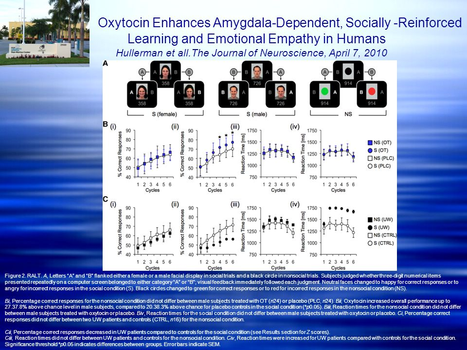 Oxytocin Enhances Amygdala-Dependent, Socially -Reinforced