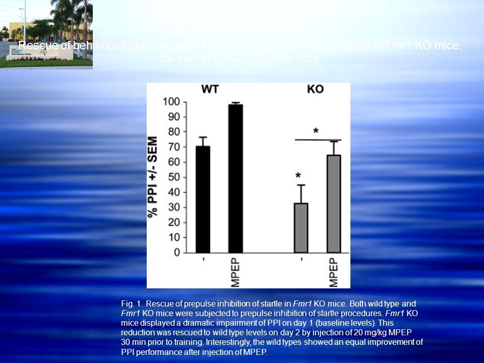 De Vrii Fet al. Neurobiol Dis 2008