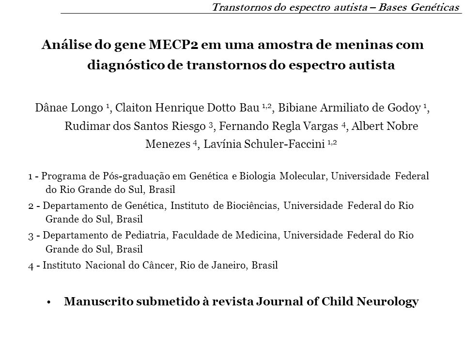 Manuscrito submetido à revista Journal of Child Neurology