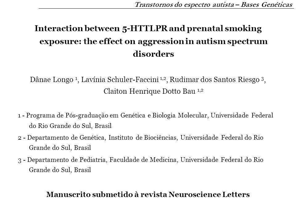 Manuscrito submetido à revista Neuroscience Letters