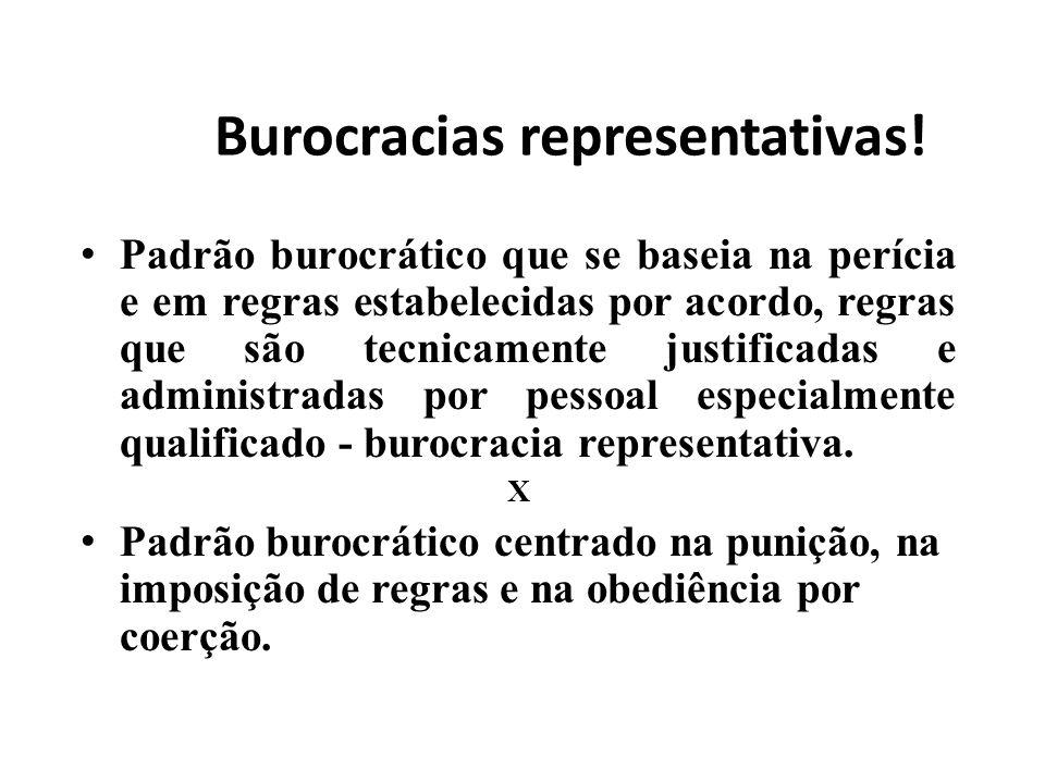 Burocracias representativas!