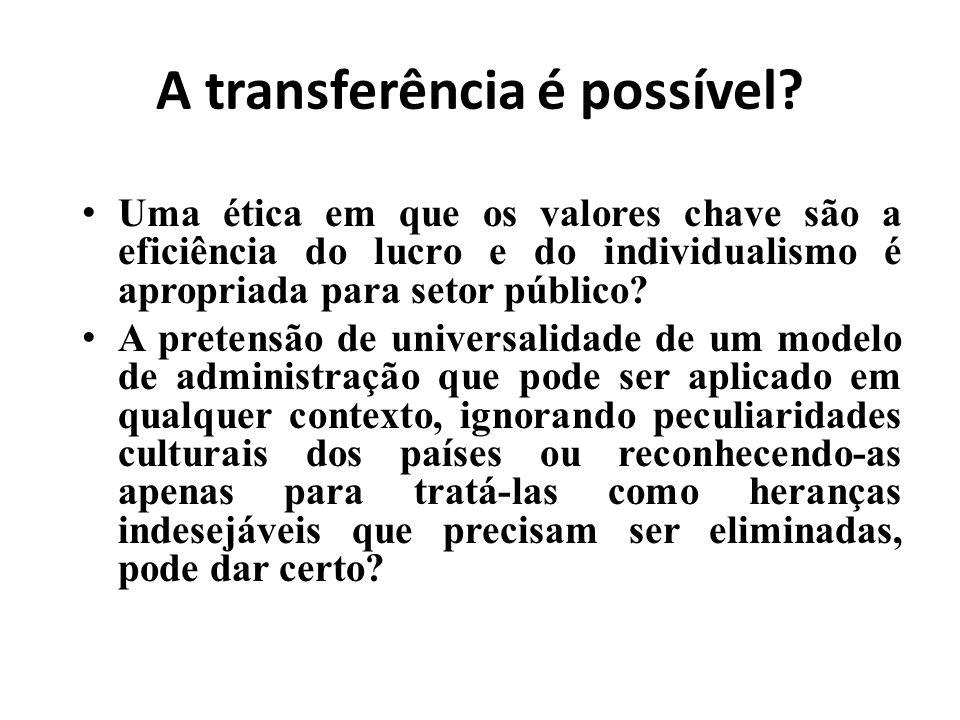 A transferência é possível