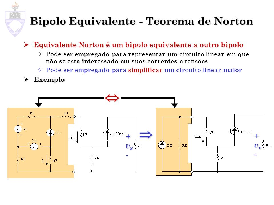 Bipolo Equivalente - Teorema de Norton