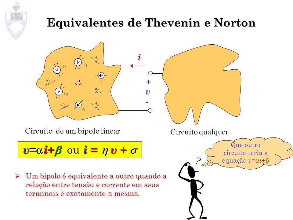 Equivalentes de Thevenin e Norton