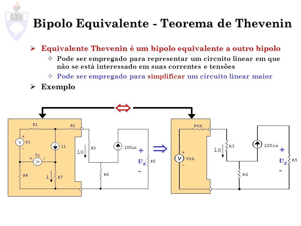 Bipolo Equivalente - Teorema de Thevenin