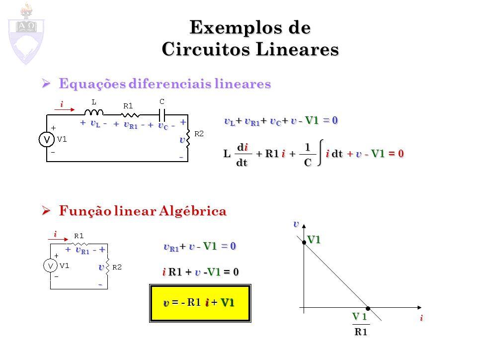 Exemplos de Circuitos Lineares