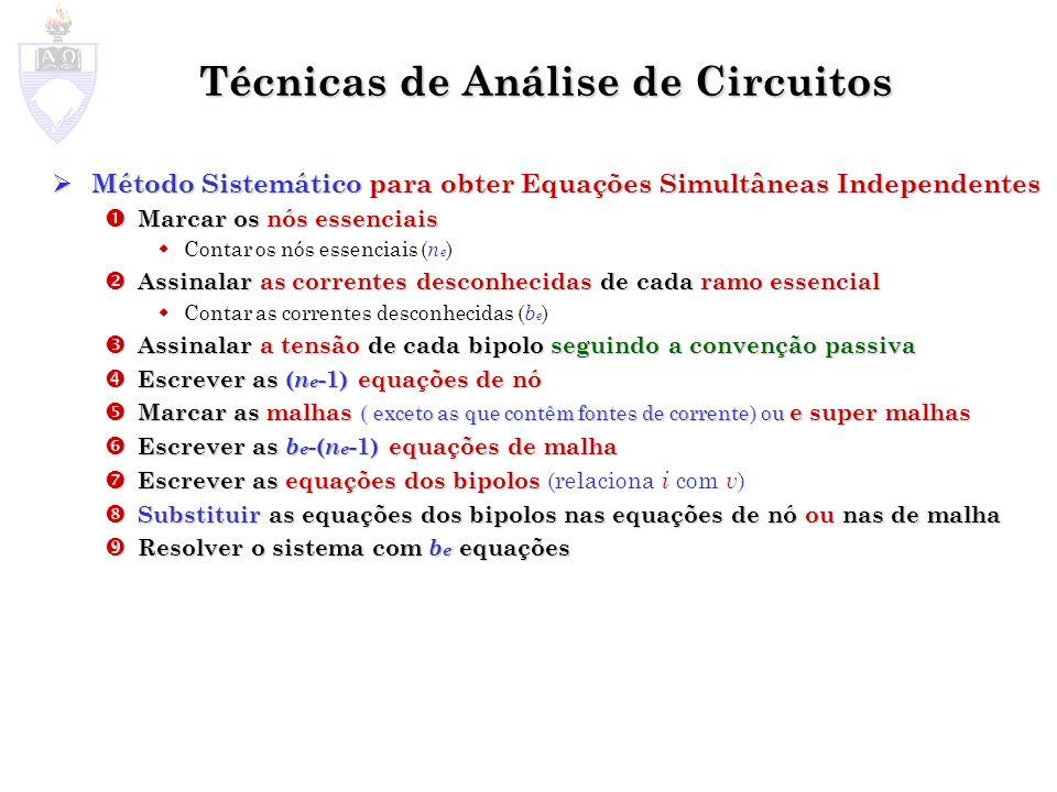 Técnicas de Análise de Circuitos
