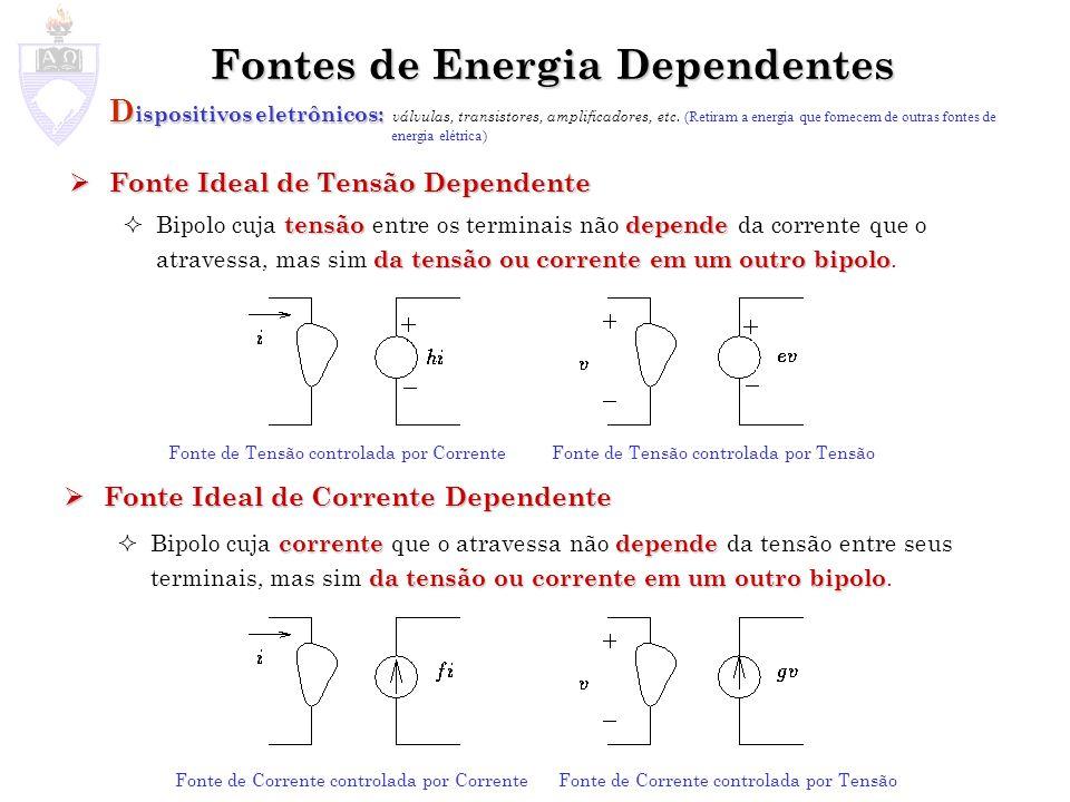 Fontes de Energia Dependentes