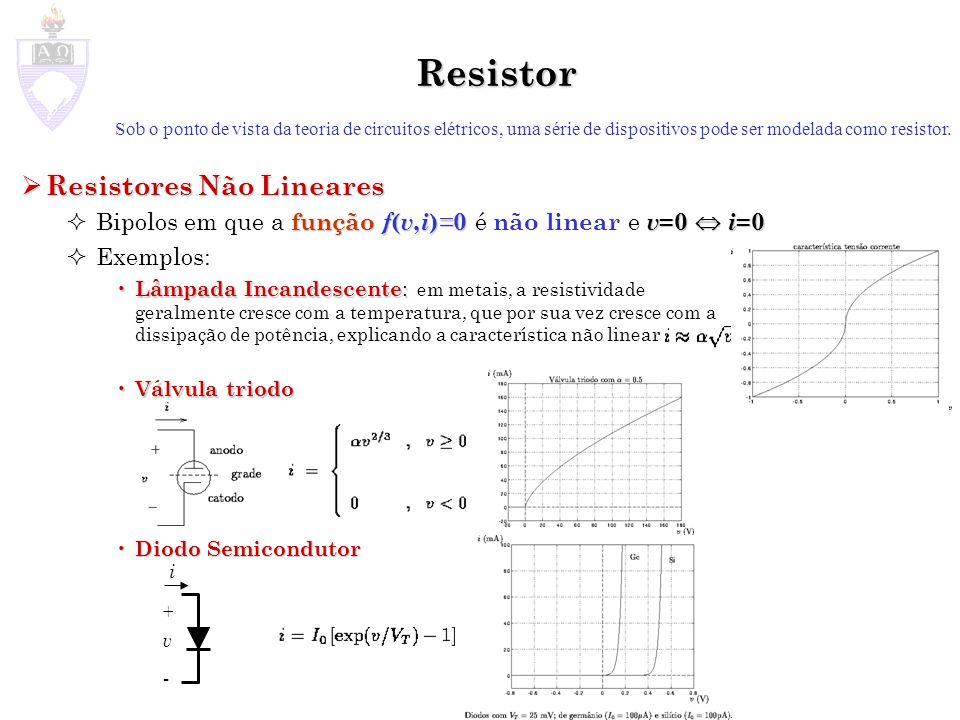 Resistor Resistores Não Lineares
