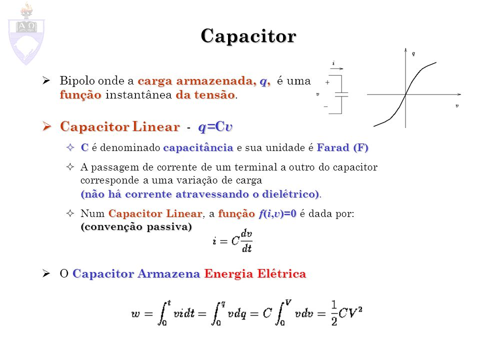 Capacitor Capacitor Linear - q=Cv