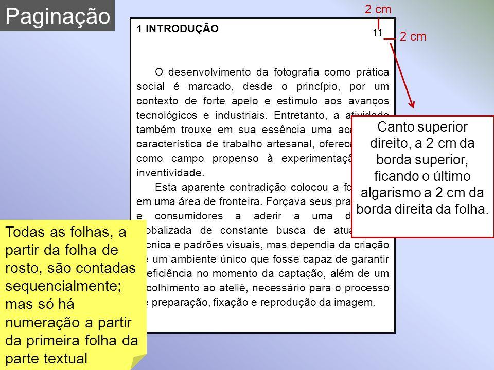 Paginação 2 cm. 1 INTRODUÇÃO.