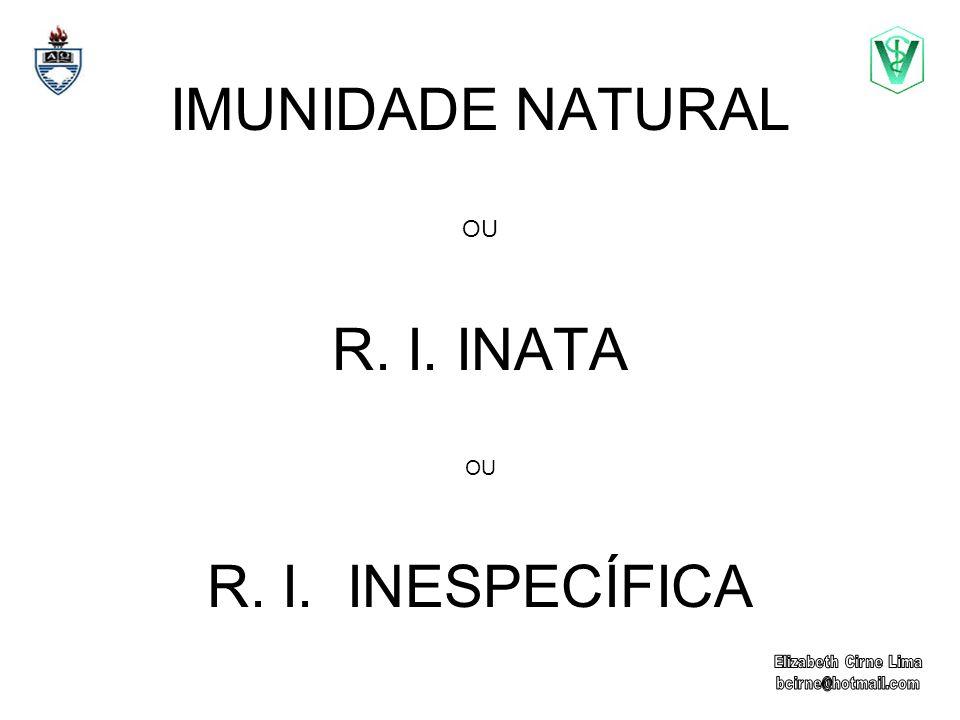 IMUNIDADE NATURAL OU R. I. INATA OU R. I. INESPECÍFICA