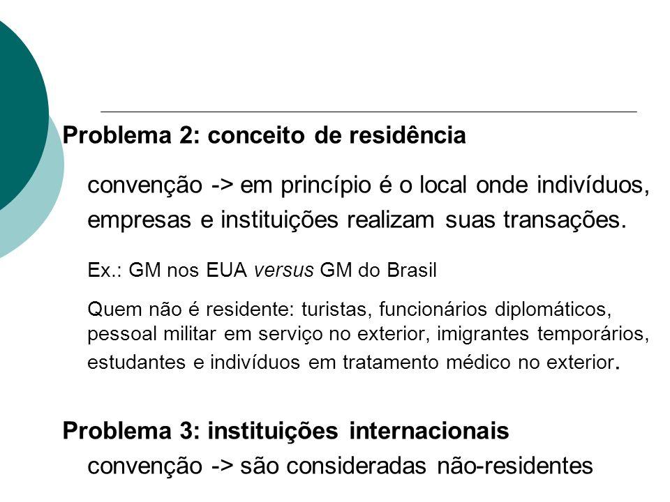 Problema 2: conceito de residência