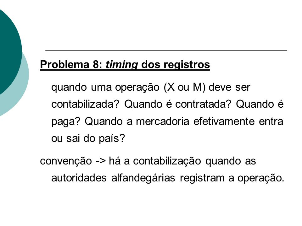 Problema 8: timing dos registros