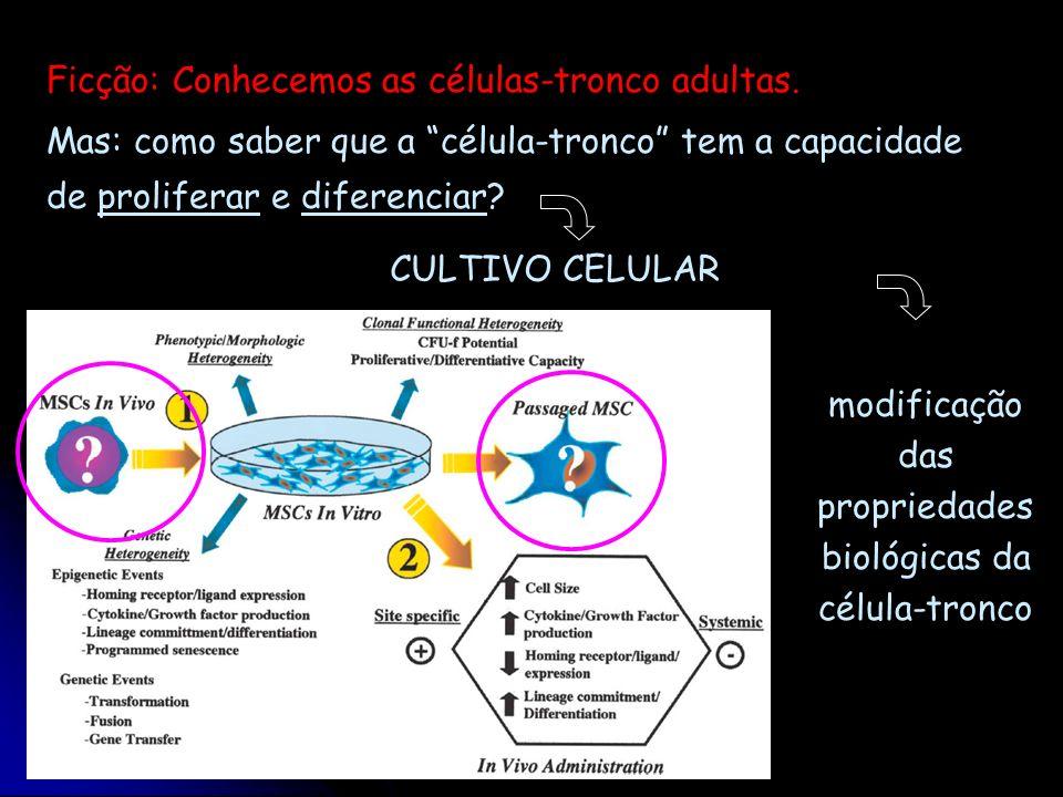 modificação das propriedades biológicas da célula-tronco