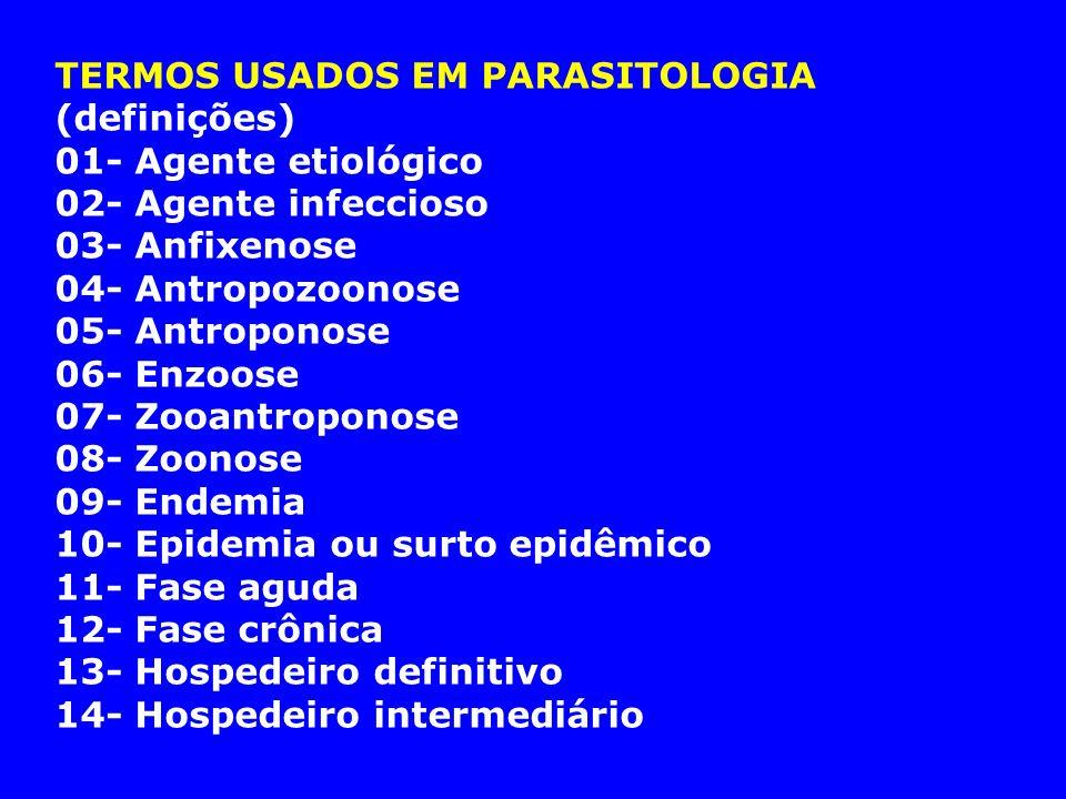 TERMOS USADOS EM PARASITOLOGIA (definições)