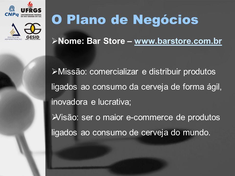 O Plano de Negócios Nome: Bar Store – www.barstore.com.br