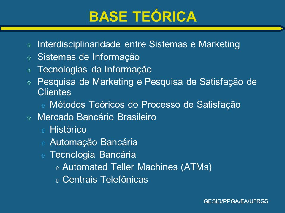 BASE TEÓRICA Interdisciplinaridade entre Sistemas e Marketing