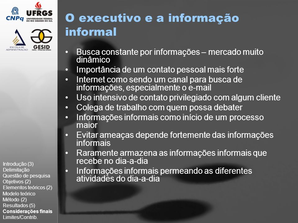 O executivo e a informação informal