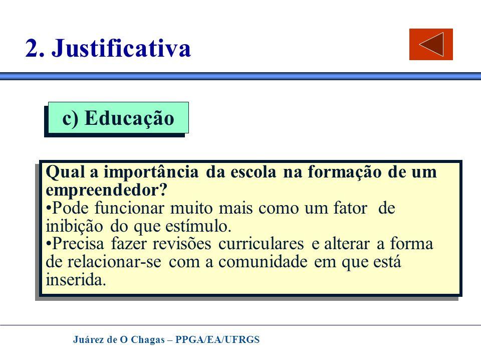2. Justificativa c) Educação