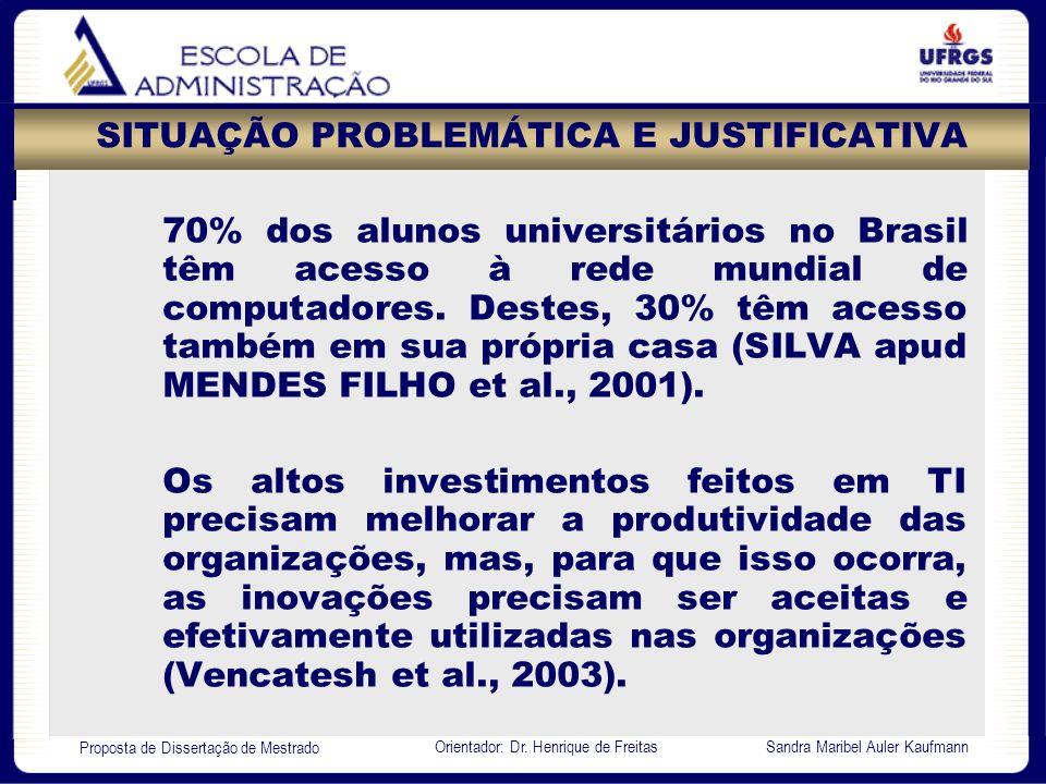 SITUAÇÃO PROBLEMÁTICA E JUSTIFICATIVA
