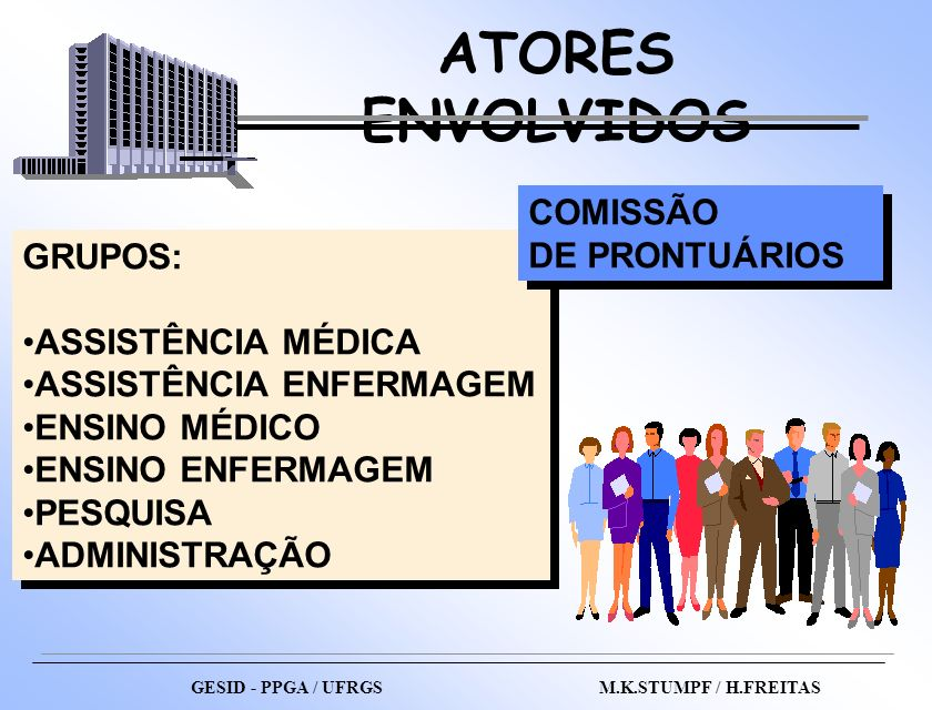 ATORES ENVOLVIDOS COMISSÃO DE PRONTUÁRIOS GRUPOS: ASSISTÊNCIA MÉDICA