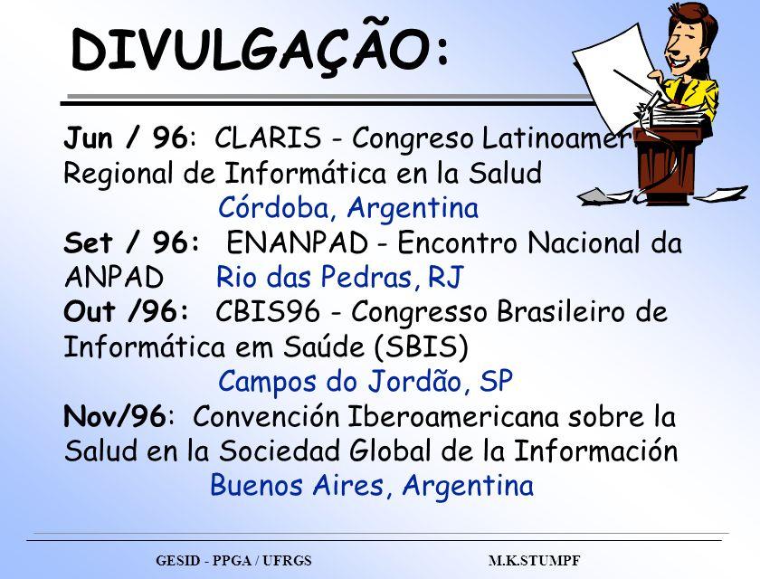 DIVULGAÇÃO: Jun / 96: CLARIS - Congreso Latinoamericano