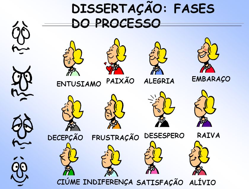 DISSERTAÇÃO: FASES DO PROCESSO EMBARAÇO PAIXÃO ALEGRIA ENTUSIAMO