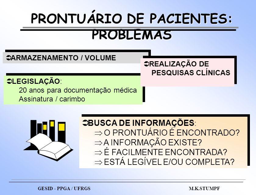 PRONTUÁRIO DE PACIENTES: PROBLEMAS