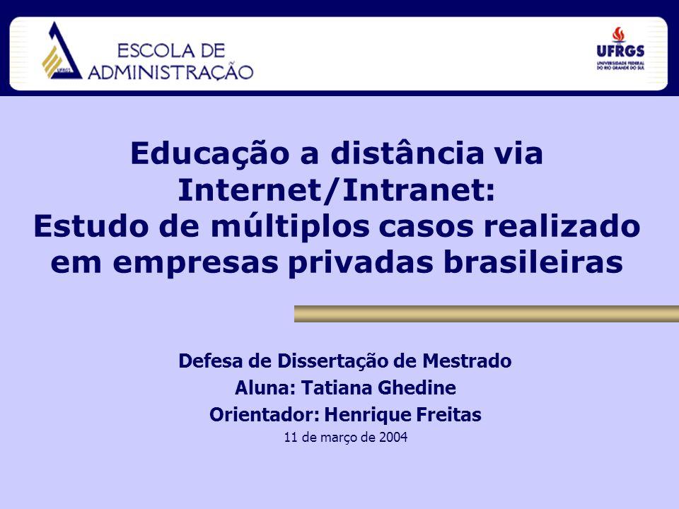 Educação a distância via Internet/Intranet: Estudo de múltiplos casos realizado em empresas privadas brasileiras