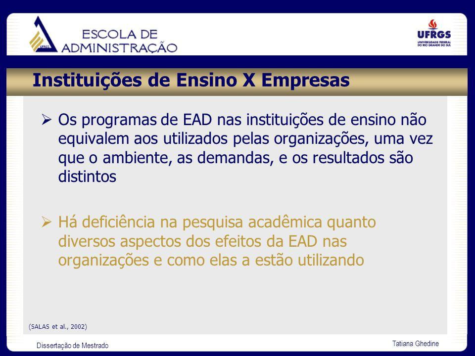 Instituições de Ensino X Empresas