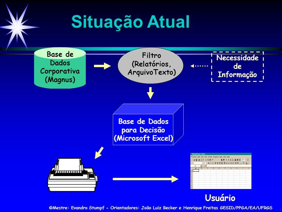 Situação Atual Usuário Base de Dados Corporativa (Magnus) Filtro