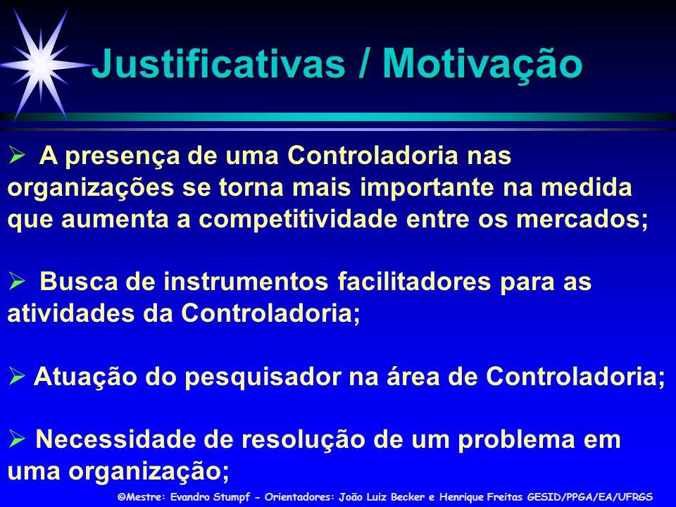 Justificativas / Motivação