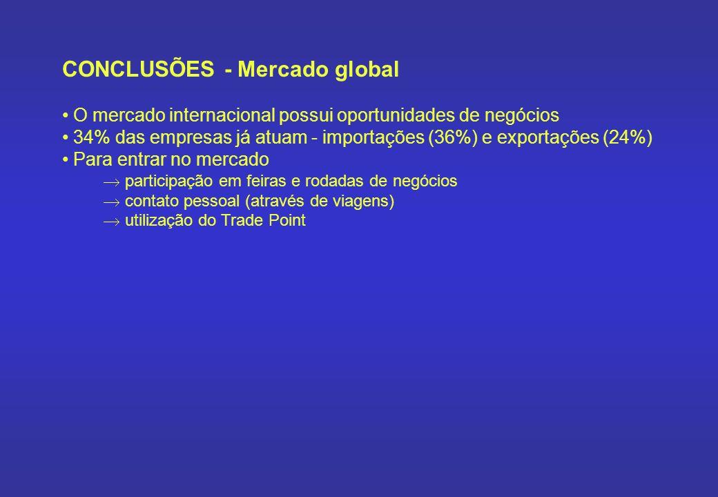 CONCLUSÕES - Mercado global