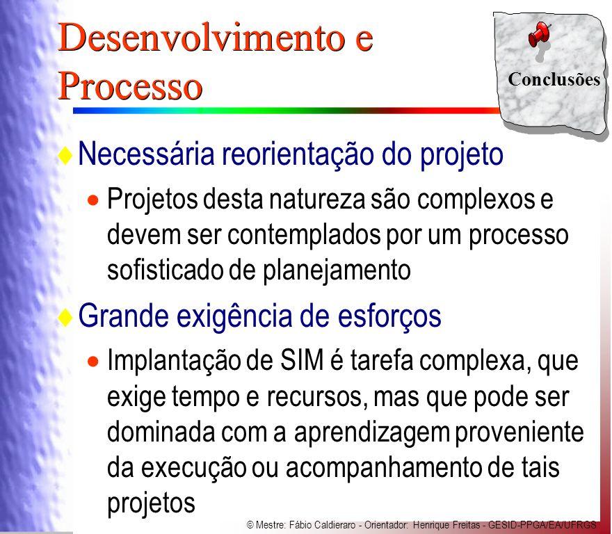 Desenvolvimento e Processo