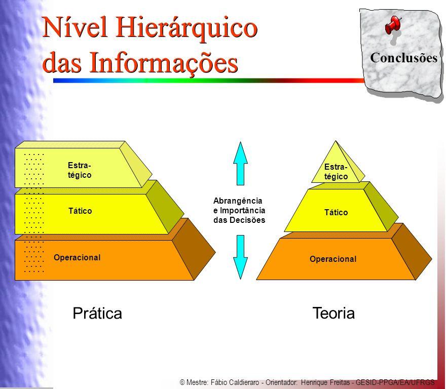 Nível Hierárquico das Informações