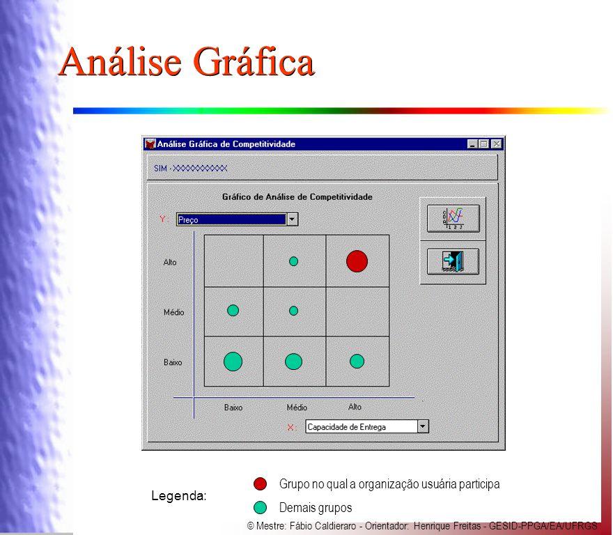Análise Gráfica Grupo no qual a organização usuária participa Legenda: