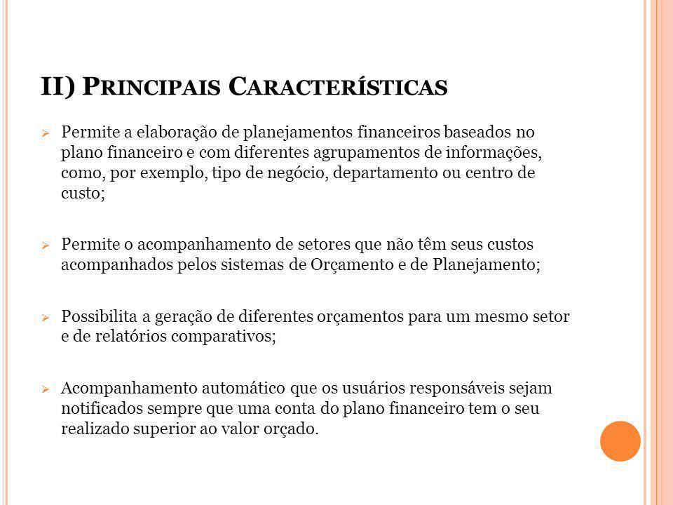 II) Principais Características